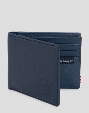 Herschel Supply Co. Hank Leather Wallet - Navy Pebbled Leather