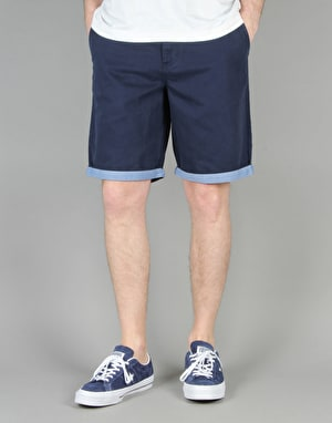 Vans Excerpt Cuff Shorts - Dress Blues/Guilder Stripe