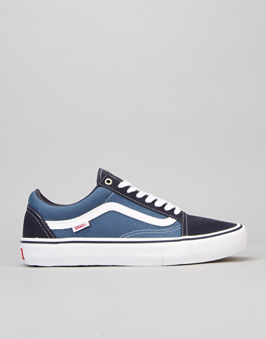 Vans Old Skool Pro Skate Shoes - Navy/Stv Navy/White