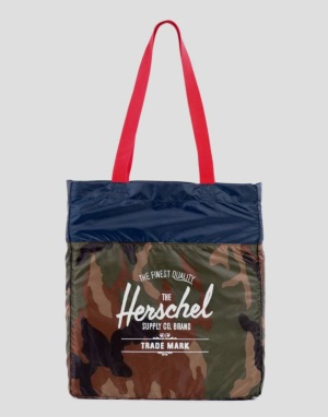 Herschel Supply Co. Packable Tote Bag - Woodland Camo/Navy/Red