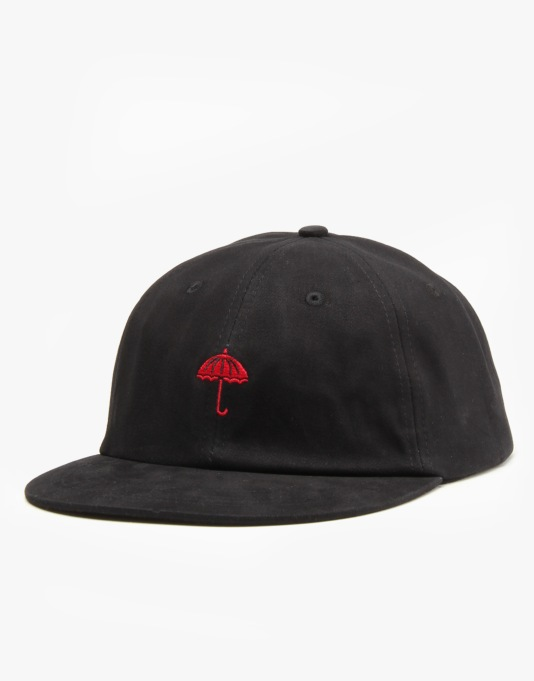Hélas Classic Logo 6 Panel Cap - Black Cotton Twill