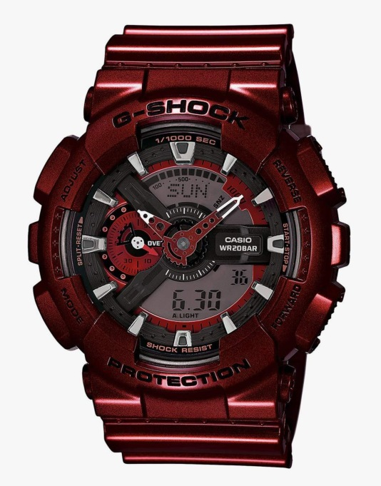 G-Shock GA-1010NM-4A Watch - Neo Metallic Red