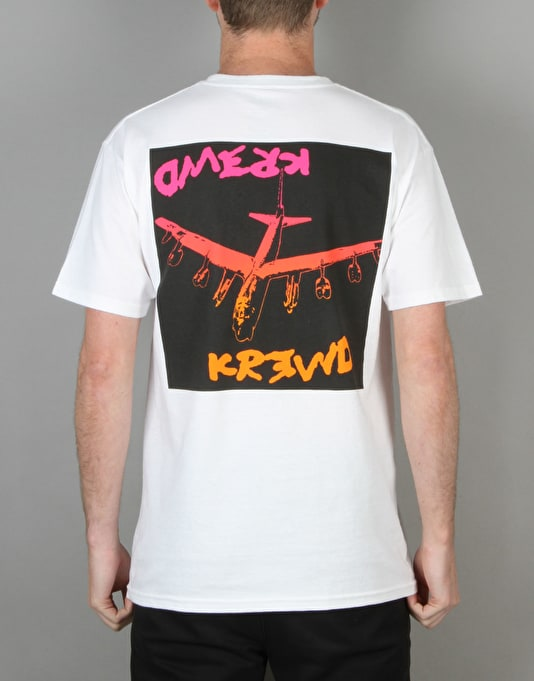 Kr3w x Fergus Purcell Bomber T-Shirt - White
