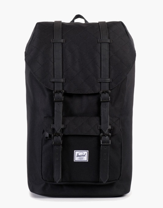 Herschel Supply Co. Quilted Little America Backpack - Black