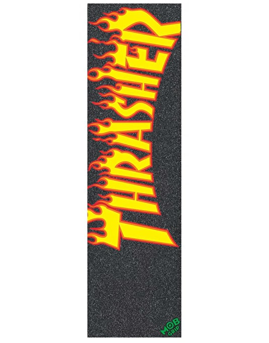 "MOB x Thrasher Flame Logo 9"" Graphic Grip Tape Sheet"