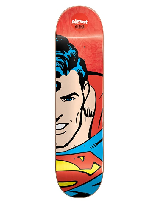 Almost x DC Comics Youness Superhero Splitface Skateboard Deck - 8""