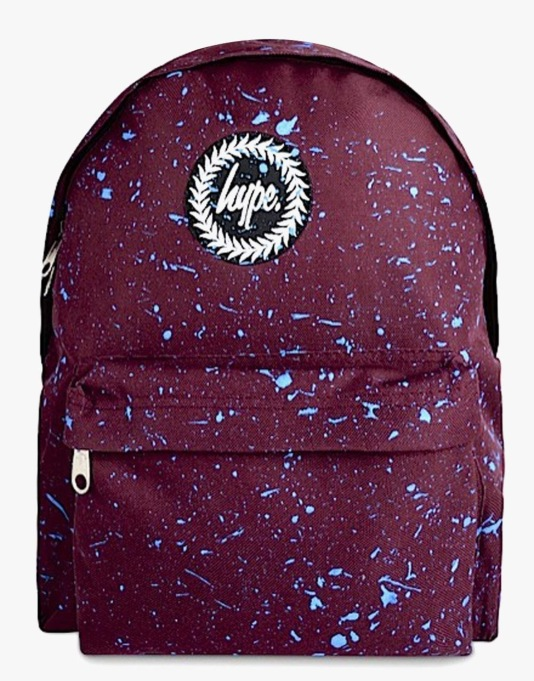 Hype Speckle Backpack - Burgundy/Blue