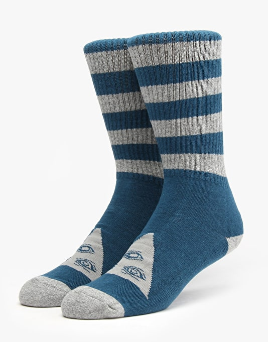 Welcome Triangle Socks - Dark Teal/Heather