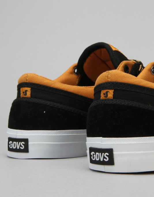 DVS Aversa Skate Shoes - Black/Tan Suede - Canvas x Wallin