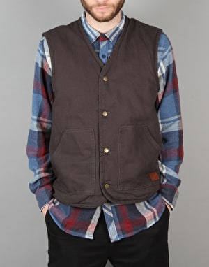 Brixton Anchor Vest - Washed Black