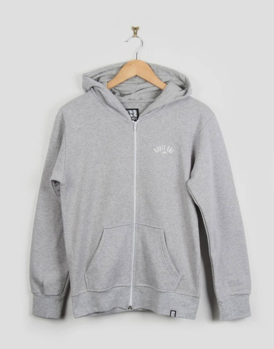 Route One Boys Logo Zip Hoodie - Grey