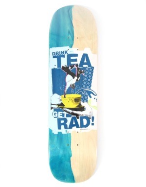 Lovenskate Drink Tea Get Rad Side Dip Dye Team Deck - 8.7