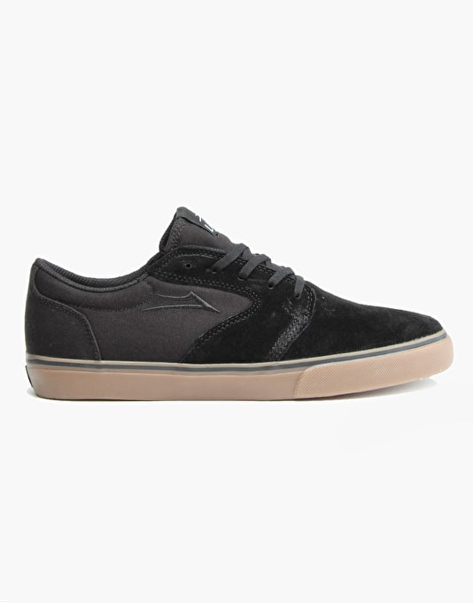 Lakai Fura Skate Shoes - Black/Gum Suede