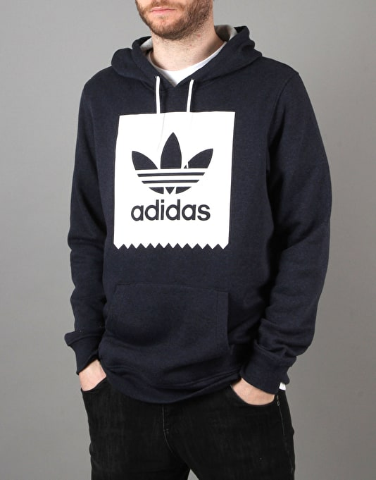 Adidas BLKBRD Basic Pullover Hoodie - Navy Heather Ash