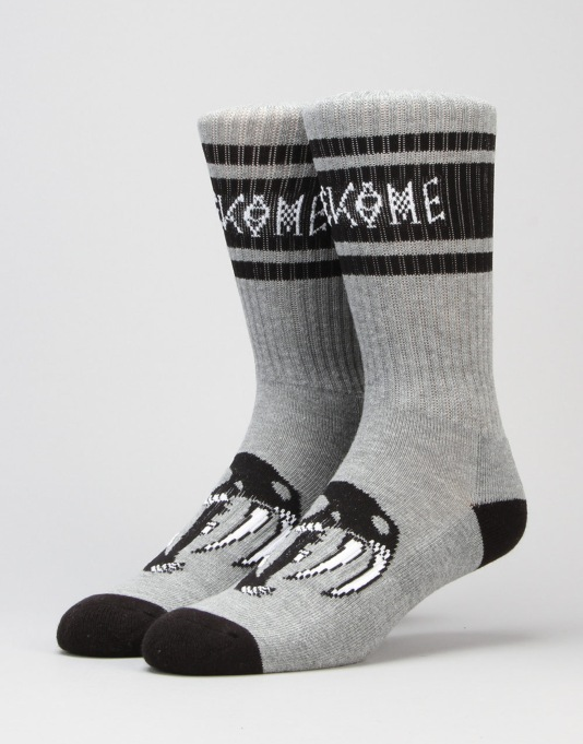 Welcome Saberskull Socks - Heather Grey