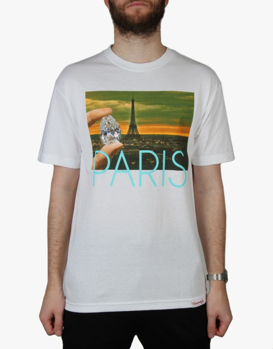 Diamond Supply Co. Paris Life T-Shirt - White