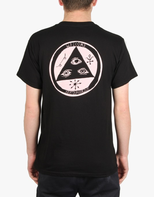 Welcome Talisman T-Shirt - Black/Pink