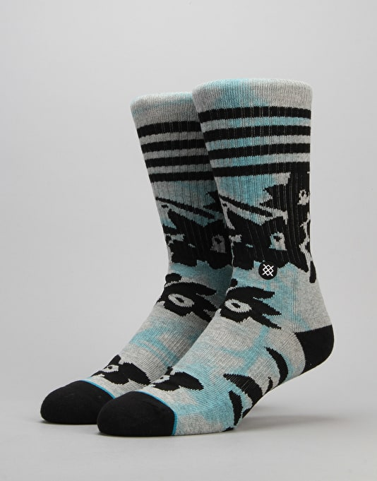 Stance Weeded Classic Crew Socks - Grey