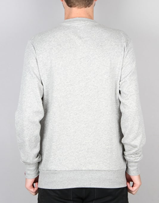 éS Script Crewneck Sweatshirt - Grey Heather