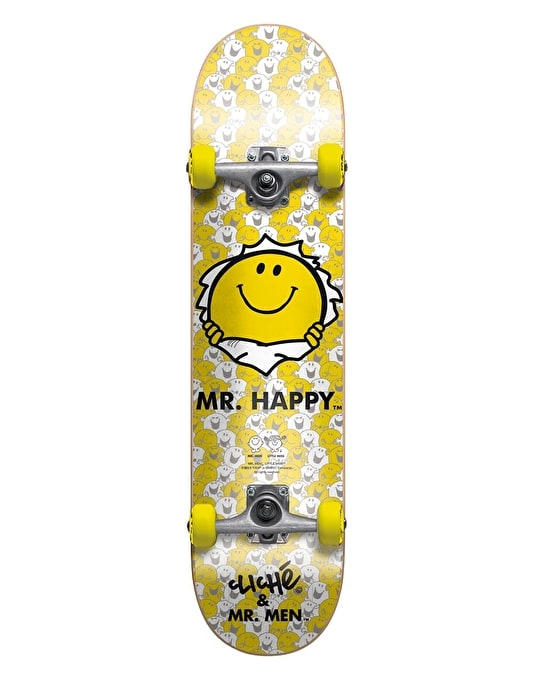 Cliché x Mr. Men Mr. Happy Soft Top Mini Complete - 7""