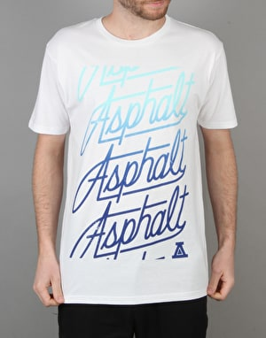 Asphalt Yacht Club Scripted T-Shirt - White