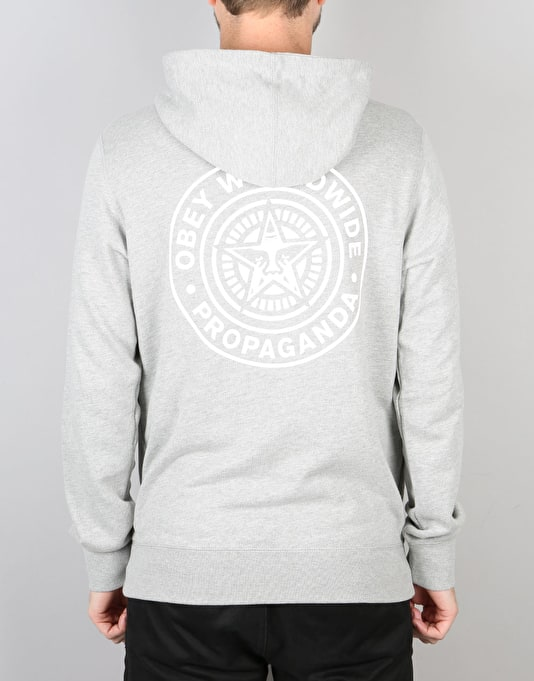 Obey Propaganda Seal Pullover Hoodie - Heather Grey