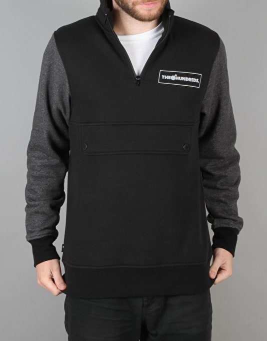 The Hundreds Tactics Half Zip Hoodie - Black