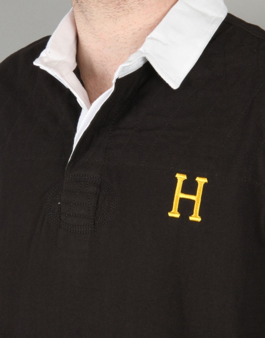 HUF Twickenham Rugby Shirt - Black