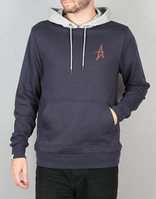 Altamont Icon Pullover Hoodie - Navy/Grey