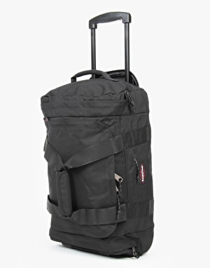 Eastpak Leather Face Small Luggage Bag - Black