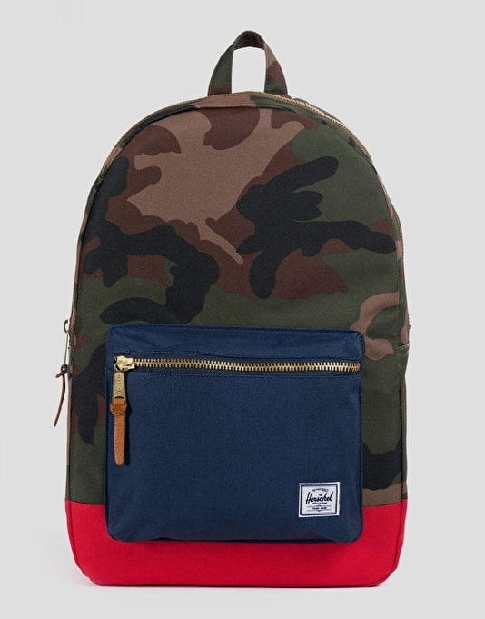 Herschel Supply Co. Settlement Backpack - Woodland Camo/Navy/Red