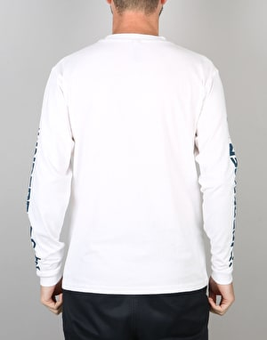 Independent ITC Cross L/S T-Shirt - White