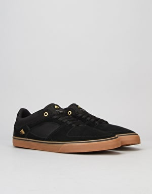 Emerica The Hsu Low Vulc Skate Shoe - Black/Gum