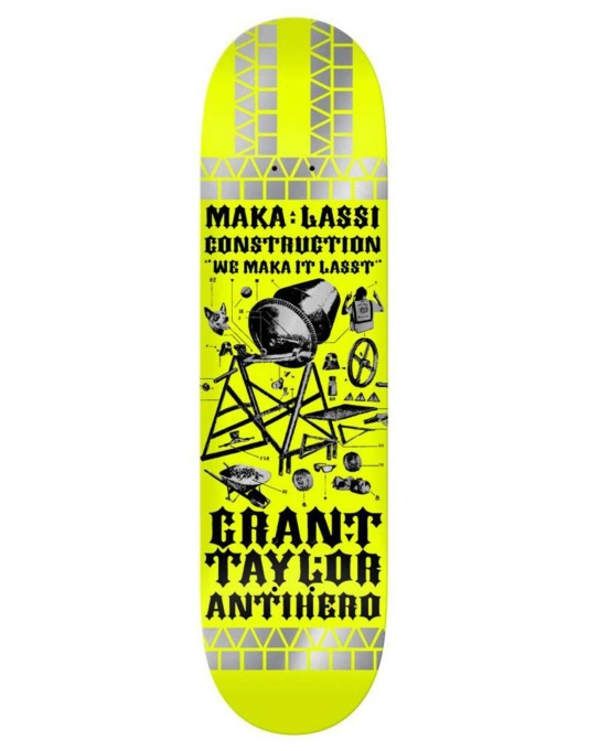 Anti Hero Taylor Maka:Lassi Pro Deck - 8.25""