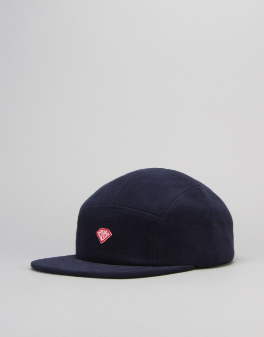 Diamond Supply Co. Brilliant D 5 Panel Cap - Navy