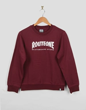 Route One Skate Store Boys Sweatshirt - Burgundy