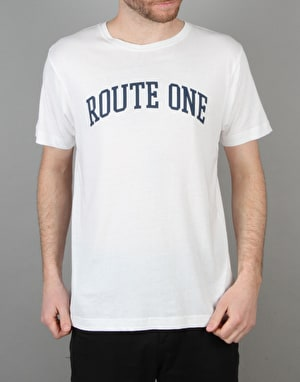 Route One College Logo T-Shirt - White