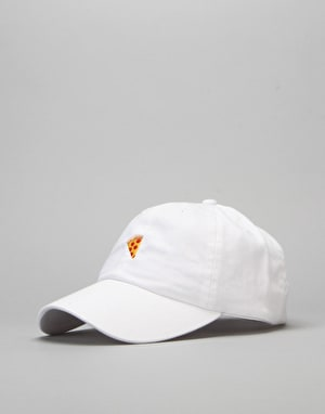 Pizza Emoji Delivery Boy Cap - White