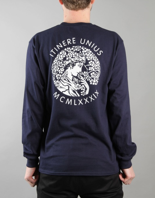 Route One Itinere LS T-Shirt - Navy