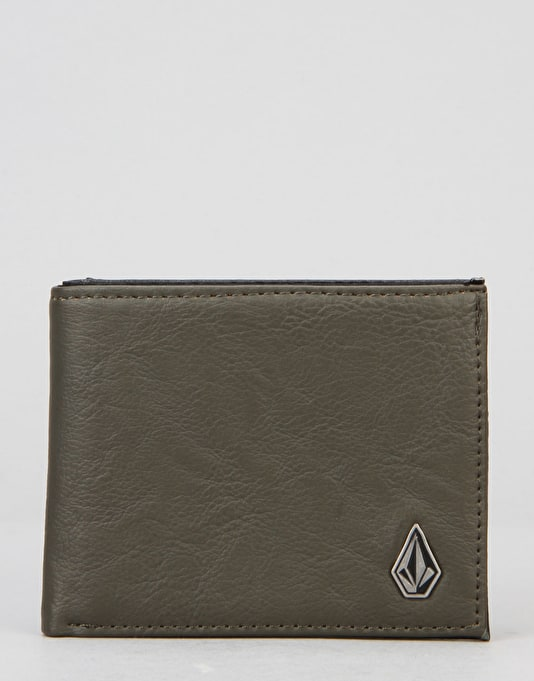 Volcom Slim Stone Wallet - Military Green