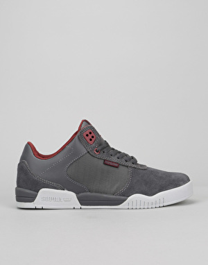 Supra Ellington Skate Shoes - Charcoal Suede