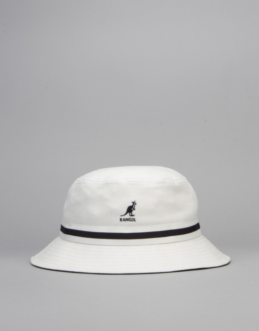 Kangol Stripe Lahinch Bucket Hat - White