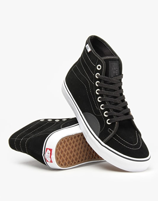 Vans AV Classic High Duracap Skate Shoes - Black/White
