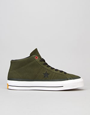 Converse One Star Mid Pro (90's Colour) Skate Shoes - Herbal Black/WHI