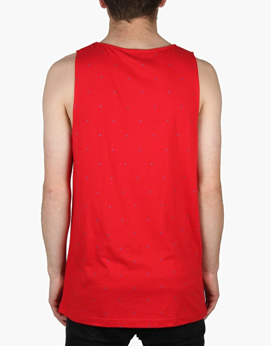 The Hundreds Nettle Vest - Red