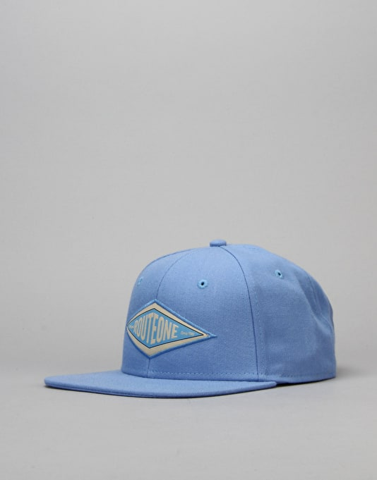Route One Hardgoods Snapback Cap - Carolina Blue