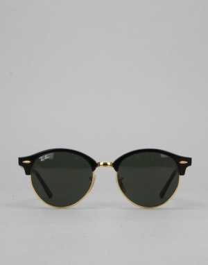 Ray-Ban Club Round Sunglasses - Black/Green RB4246 901 51