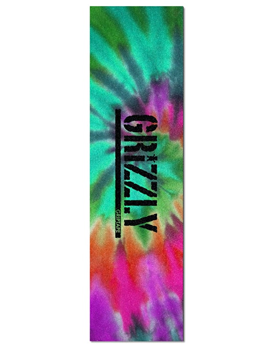 "Grizzly Stamp 9"" Grip Tape Sheet - Reverse Tie Dye"
