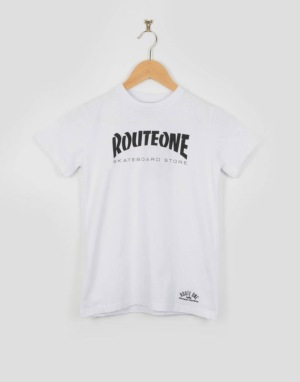 Route One Skate Store Boys T-Shirt - White