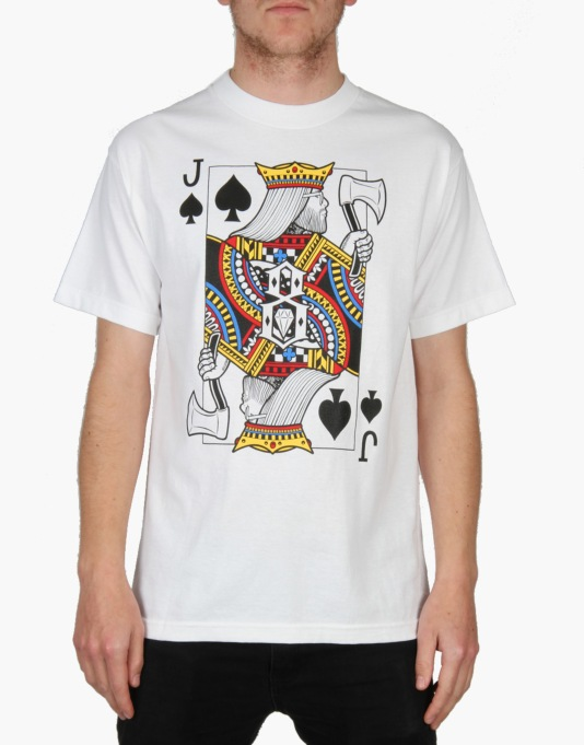 Rebel8 Doom Jack Of Spades T-Shirt - White